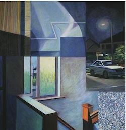 mary Burke, Flashback, oil pastel on canvas, 100 cm x 100 cm