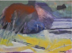 Eamon colman, Make the morning from the heart of night, 2013, oil on Somerset paper 600 x 910mm