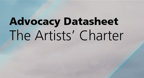 Advocacy Datasheet: The Artists' Charter