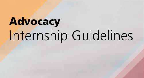 Advocacy Internship Guidelines