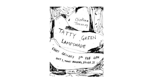 Tatty Green Lampshade | Cliodhna Timoney at Eight Gallery, Dublin