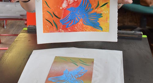 Pochoir (Stencil) Printmaking with Coby Moore at Belfast