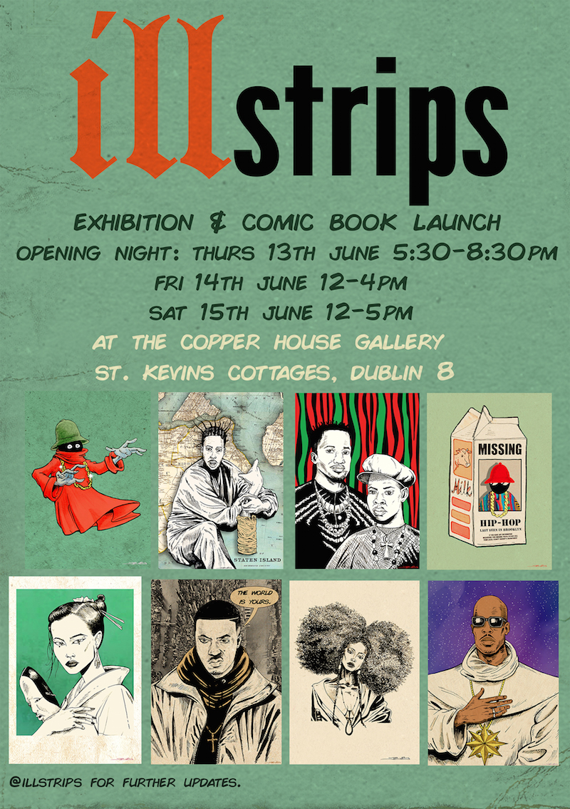 ILLstrips Exhibition and Comic Book Launch at Copper House Gallery, Dublin