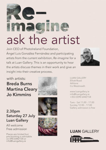 Ask the Artist   Jo Kimmins, Breda Burns and Martina Cleary and mediator Ángel Luis González Fernández at Luan Gallery