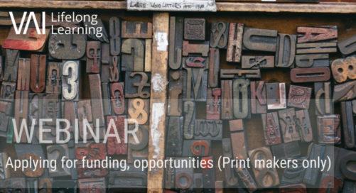 Webinar   Applying for Opportunities & Funding (for Printmakers)