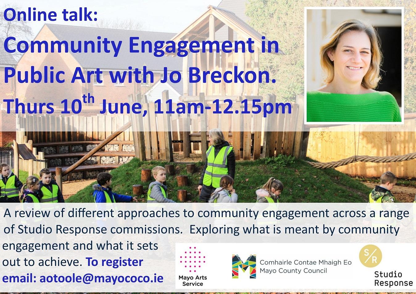 Online Artist Talk | Case Studies in Community Engagement in Public Art with Jo Breckon, Co- Director, Studio Response