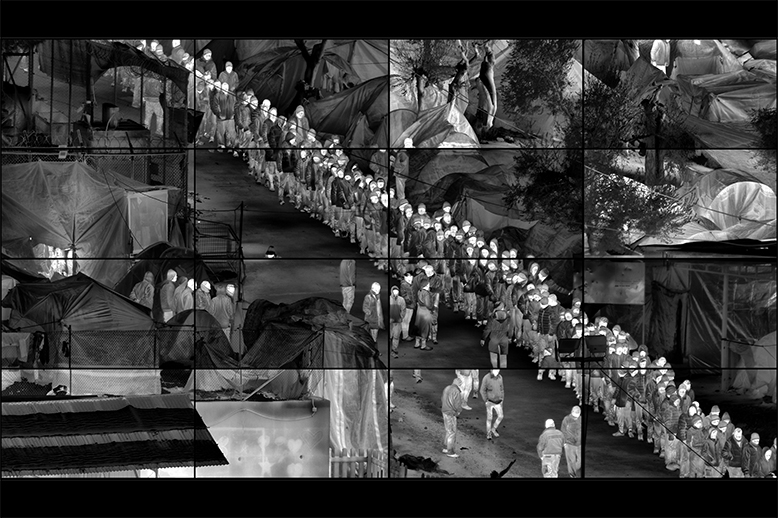 Incoming and Grid (Moria) | Richard Mosse at The Butler Gallery