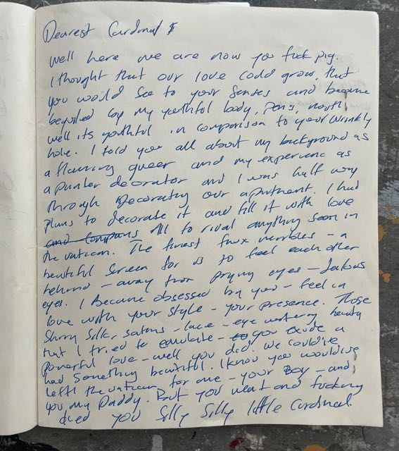 Love Letters to Cardinal Raymo   Austin Hearne at Periphery Space, Gorey School of Art, Wexford