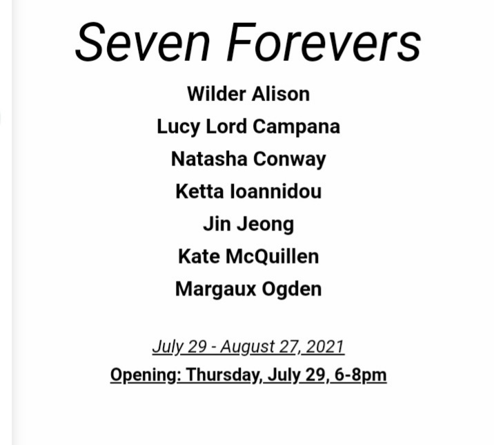 SEVEN FOREVERS   Group Exhibition at Thierry Goldberg Gallery, New York