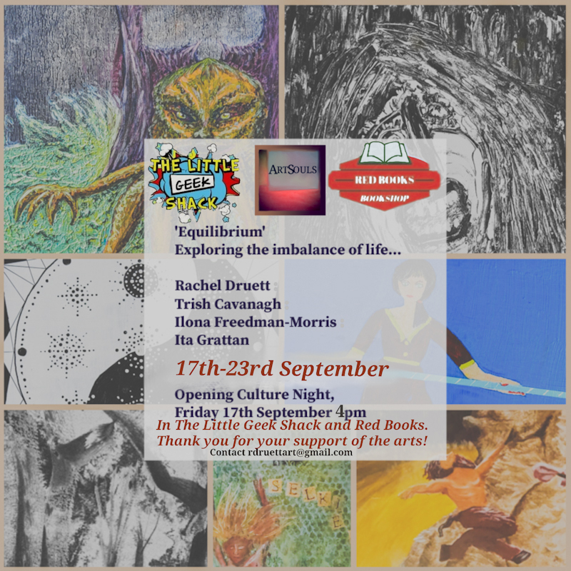 Equilibrium | ArtSouls Group at Red Books and The Little Geek Shack, Wexford