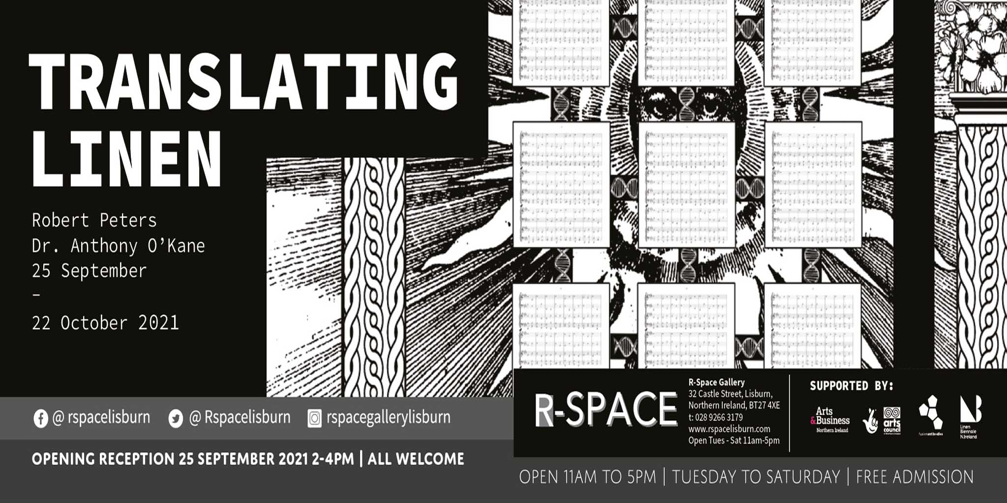 Translating Linen | Robert Peters and Dr Anthony O'Kane at R Space Gallery