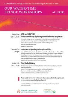 Workshop   SINK and SUSPEND: Somatic workshop exploring embodied water properties