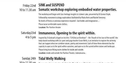 Workshop | SINK and SUSPEND: Somatic workshop exploring embodied water properties